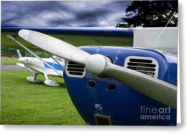Fixed-wing Greeting Cards - Plane - Grounded Greeting Card by Paul Ward