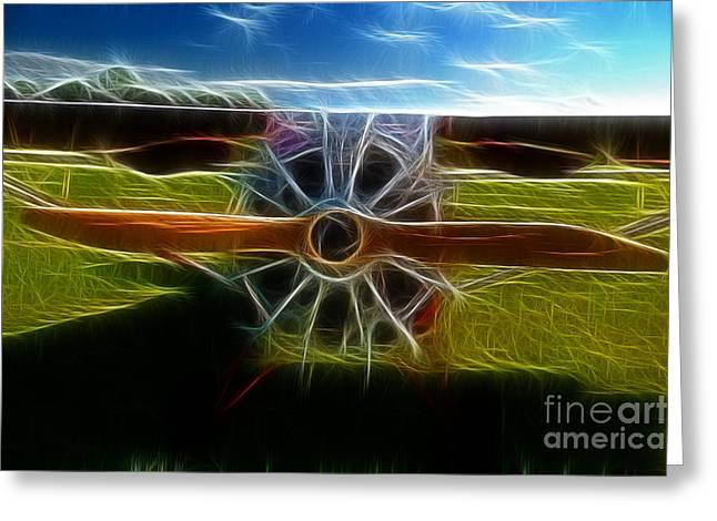 Fractalius Art Greeting Cards - Plane Ready For Take Off Greeting Card by Paul Ward