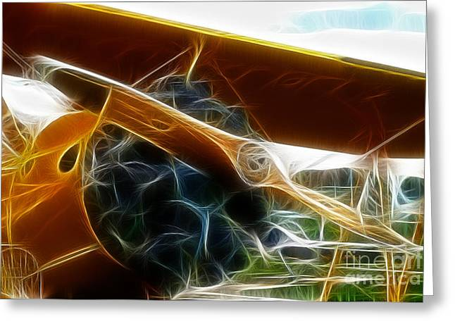 Fractalius Art Greeting Cards - Plane The Biplane Greeting Card by Paul Ward