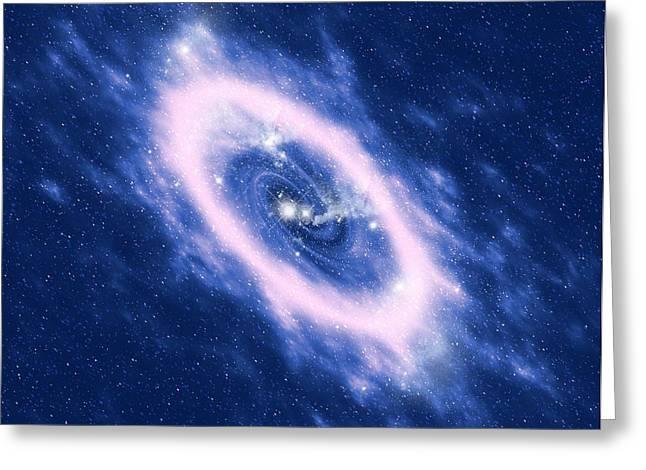 Star Death Greeting Cards - Planetary Nebula, Artwork Greeting Card by Mehau Kulyk