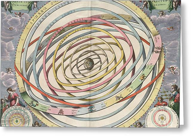 Planetary Orbits Harmonia Greeting Card by Science Source