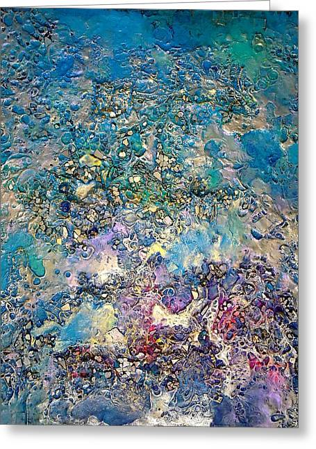 Abstract Realist Landscape Greeting Cards - Planetary Vision Greeting Card by Lynda Stevens