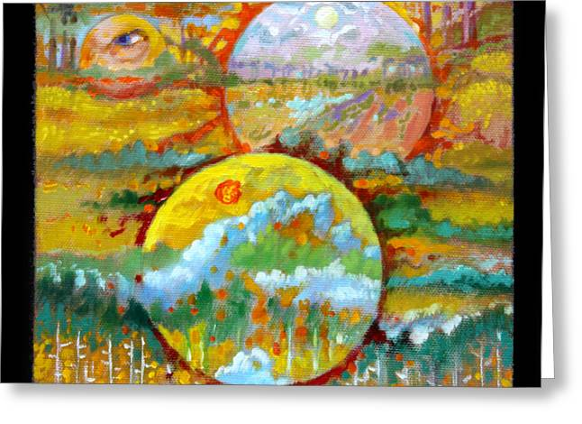 Planet Earth Paintings Greeting Cards - Planets Image Nine Greeting Card by John Lautermilch