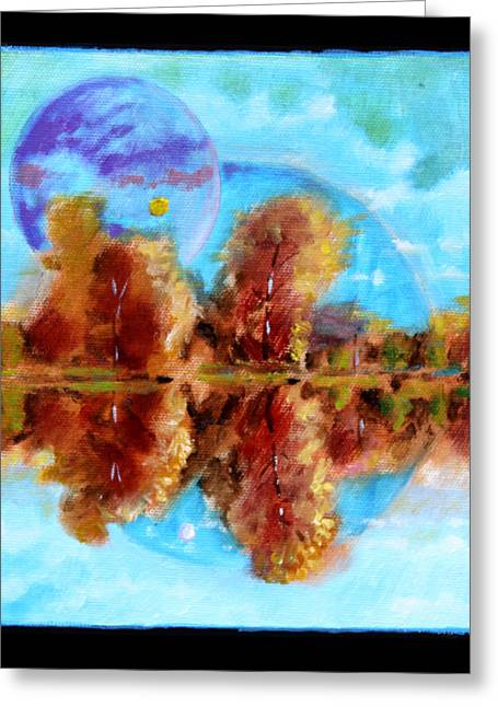 Planet Earth Paintings Greeting Cards - Planets Image Seven Greeting Card by John Lautermilch
