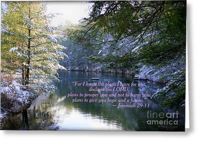 Bible Verses Greeting Cards - Plans of Hope Greeting Card by Debra Straub