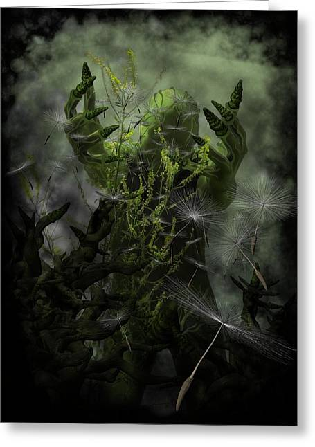Gothic Horror Greeting Cards - Plant Man Cometh Greeting Card by Michael Knight