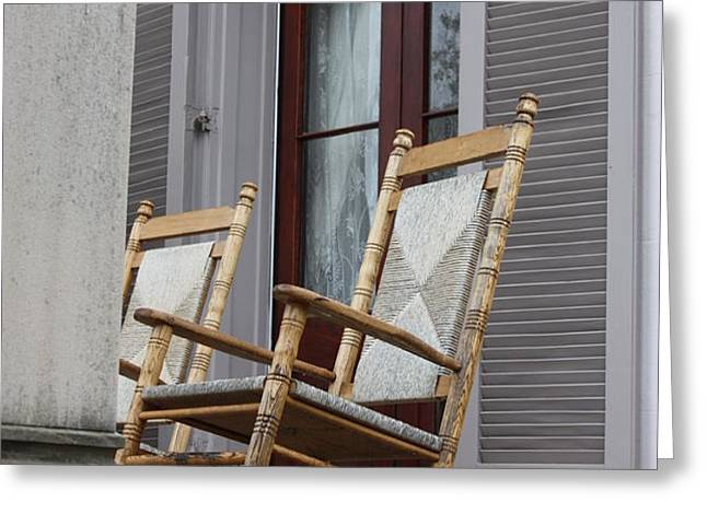 Plantation Rocking Chairs Greeting Card by Carol Groenen