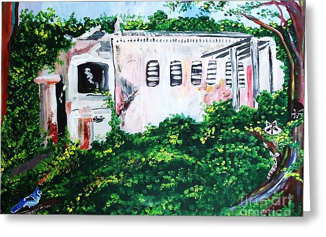 Run Down Paintings Greeting Cards - Plantation Ruins Greeting Card by Renate Pampel
