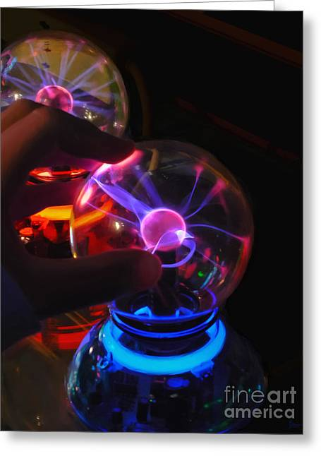 Plasma Greeting Cards - Plasma Globes Greeting Card by Jeff Breiman