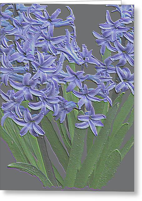 Bold Style Greeting Cards - Plaster Hyacinth Greeting Card by Debra     Vatalaro