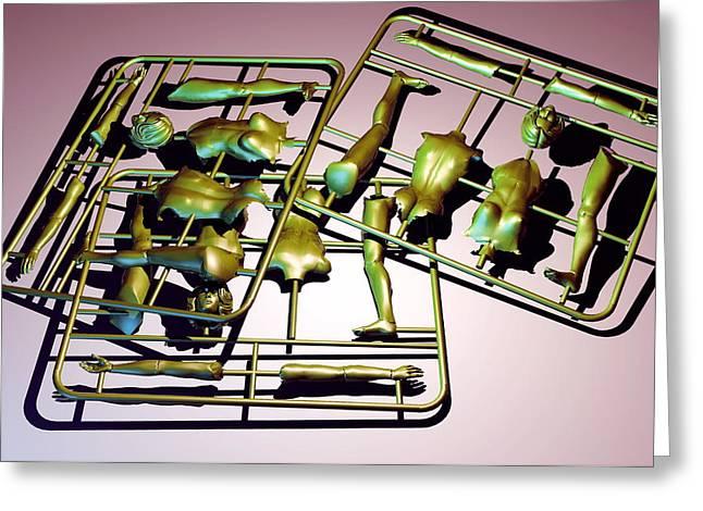 Plastic Female Body Kits Greeting Card by Christian Darkin