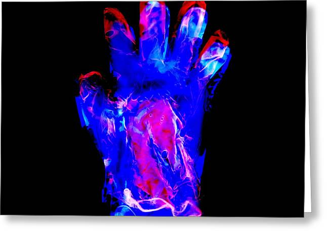 Negative Image Greeting Cards - Plastic Glove, Negative Image Greeting Card by Kevin Curtis