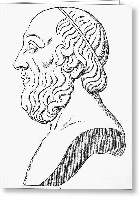 4th Century B.c. Greeting Cards - PLATO (c427 B.C.-c347 B.C.) Greeting Card by Granger