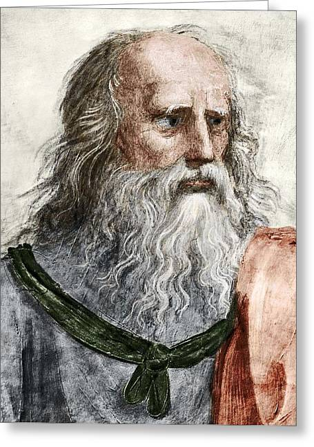 Plato Greeting Cards - Plato (c.428 Bc-c.347 Bc) Greeting Card by Sheila Terry