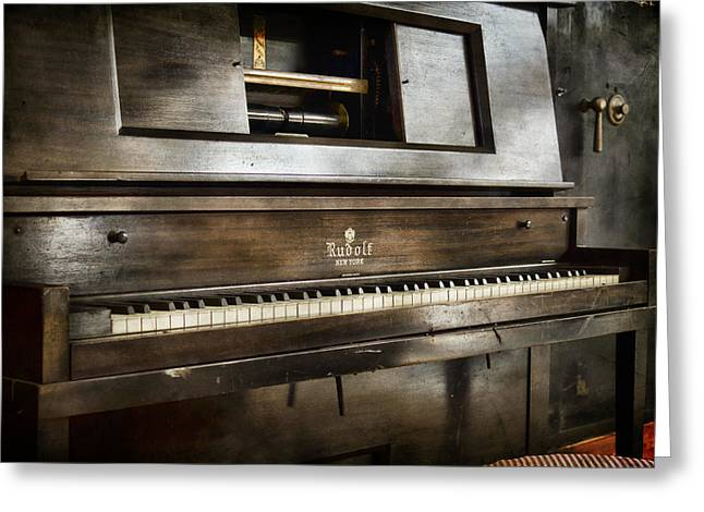 Play Me A Memory Greeting Card by Peter Chilelli
