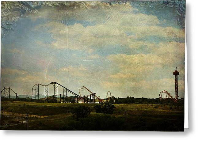 Amusements Digital Art Greeting Cards - Playgrounds of Old Greeting Card by Laurie Search