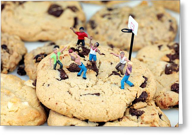 Basket Ball Greeting Cards - Playing basketball on cookies II Greeting Card by Paul Ge