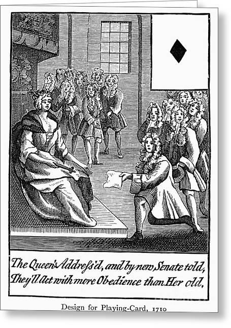 Playing Cards Greeting Cards - Playing Card, 1710 Greeting Card by Granger