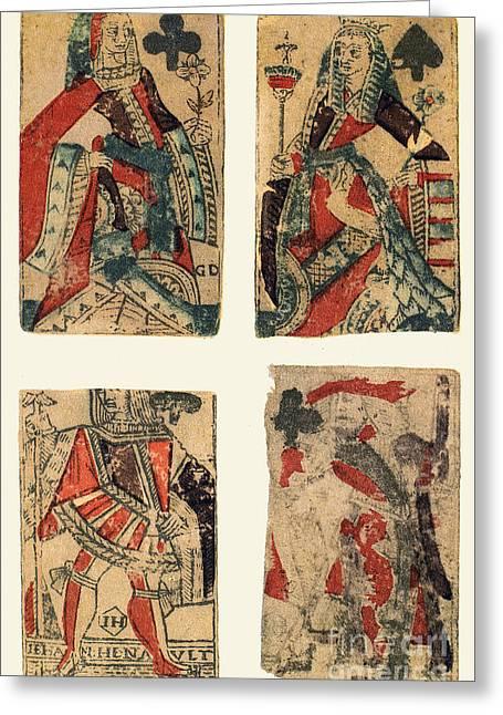 Playing Cards Greeting Cards - Playing Cards, 1543 Greeting Card by Granger