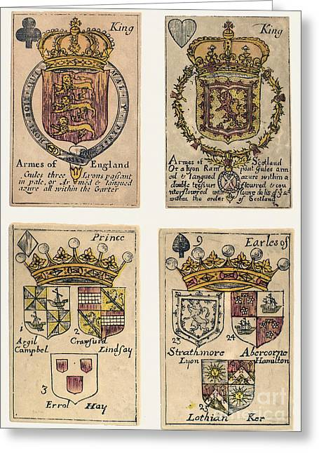 18th Century Greeting Cards - PLAYING CARDS, c1750 Greeting Card by Granger
