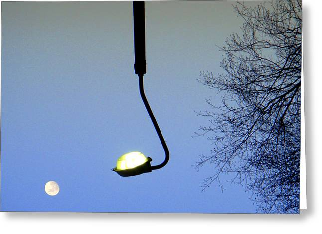 Roberto Alamino Greeting Cards - Playing Golf with the Moon  Greeting Card by Roberto Alamino