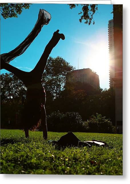 Hip Hop Dance Art Greeting Cards - Playing with the Sun - Philadelphia - Pensilvania - Sunset Greeting Card by Lee Dos Santos