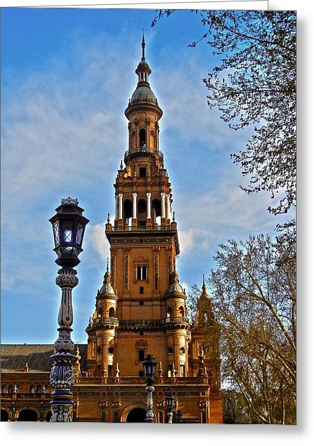 Himmel Greeting Cards - Plaza de Espana - Sevilla Greeting Card by Juergen Weiss