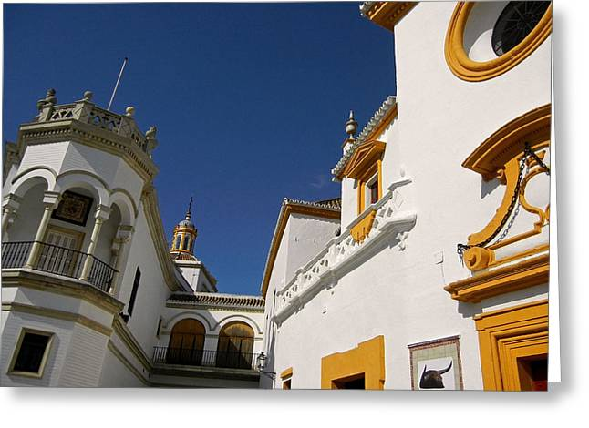 Himmel Greeting Cards - Plaza de Toros de la Real Maestranza - Seville Greeting Card by Juergen Weiss