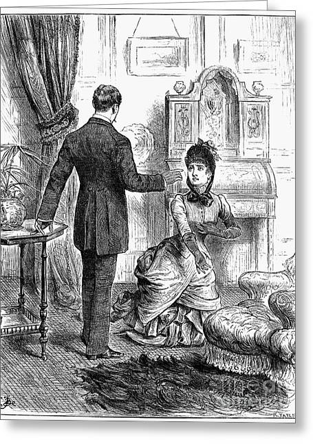 Forgiven Greeting Cards - Pleading Forgiveness, 1885 Greeting Card by Granger