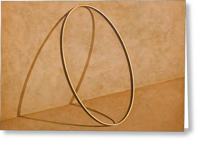 Gold Ring Greeting Cards - Plenty of Emptiness Greeting Card by Horacio Cardozo