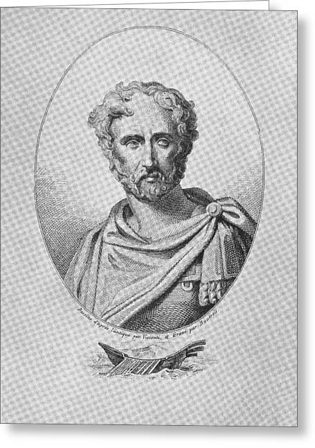 Statue Portrait Greeting Cards - Pliny, Roman Encyclopaedist Greeting Card by Science, Industry & Business Librarynew York Public Library