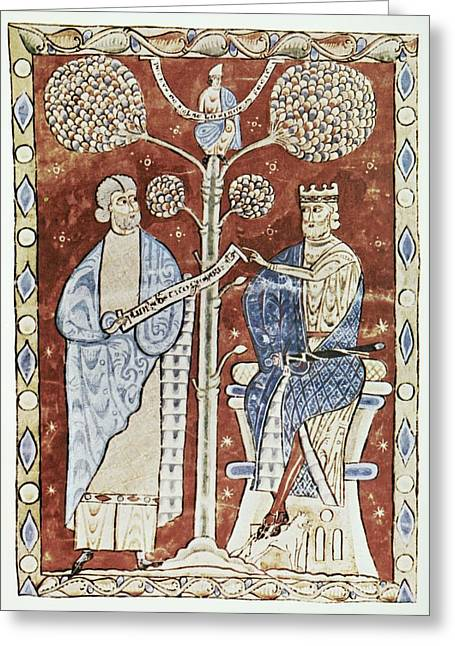 Flavius Greeting Cards - Pliny The Elder And The Emperor Titus Greeting Card by