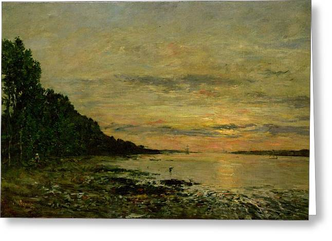 Pebbles Paintings Greeting Cards - Plougastel Daoulas Greeting Card by Eugene Louis Boudin