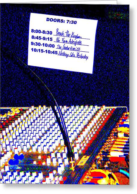 Sound Board Greeting Cards - Plugged In Greeting Card by Ed Smith