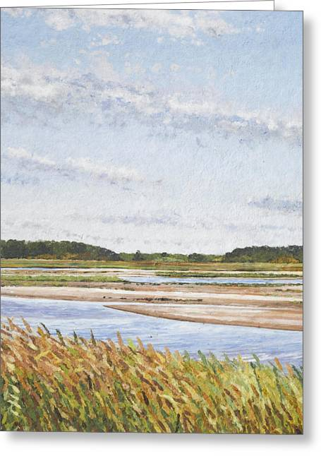 Ocean Vista Greeting Cards - Plum Island Morning Greeting Card by Meg Black