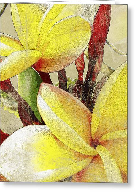 Compositions Mixed Media Greeting Cards - Plumier II Greeting Card by Kaypee Soh - Printscapes