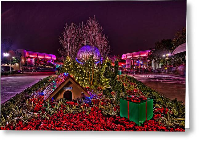 Doghouse Greeting Cards - Pluto And Spaceship Earth HDR Greeting Card by Jason Blalock