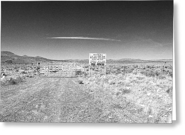 Area 52 Greeting Cards - Plutonium Valley Greeting Card by Jan Faul