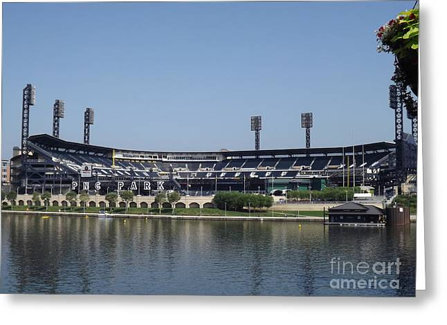 Buccos Greeting Cards - Pnc Park Greeting Card by Chad Thompson