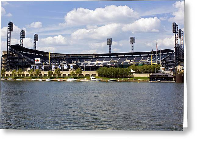 Allegheny River Greeting Cards - PNC Park Pittsburgh PA Greeting Card by Kristen Vota