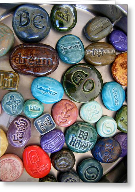 Life Ceramics Greeting Cards - Pocket Stones Greeting Card by Kimberly Castor