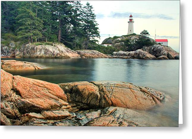 West Vancouver Greeting Cards - Point Atkinson Lighthouse Greeting Card by Brandon Broderick