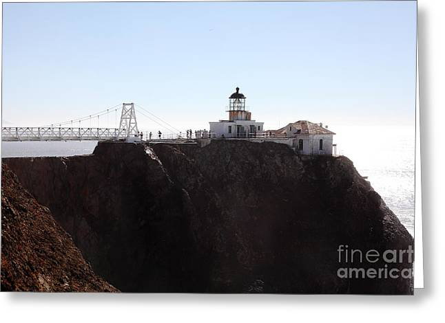 Bonita Point Greeting Cards - Point Bonita Lighthouse in The Marin Headlands - 5D19652 Greeting Card by Wingsdomain Art and Photography