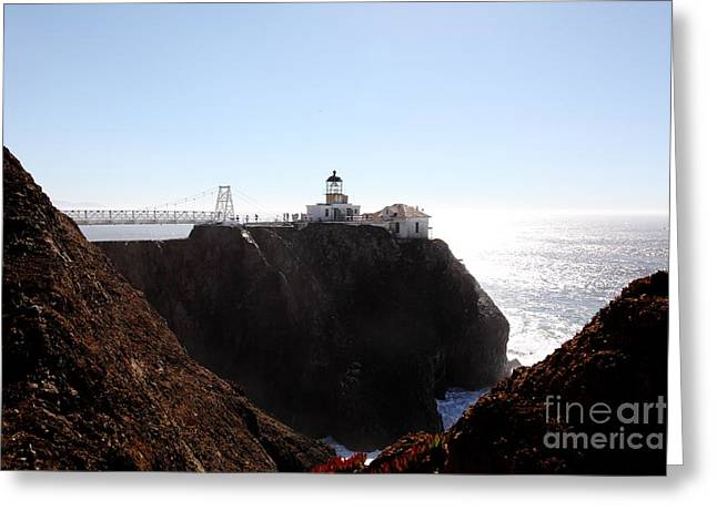 Bonita Point Greeting Cards - Point Bonita Lighthouse in The Marin Headlands - 5D19653 Greeting Card by Wingsdomain Art and Photography