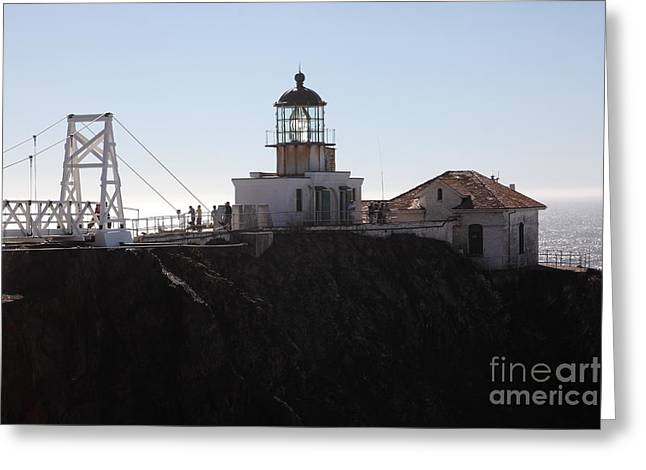 Bonita Point Greeting Cards - Point Bonita Lighthouse in The Marin Headlands - 5D19665 Greeting Card by Wingsdomain Art and Photography