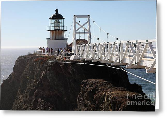 Bonita Point Greeting Cards - Point Bonita Lighthouse in The Marin Headlands - 5D19671 Greeting Card by Wingsdomain Art and Photography