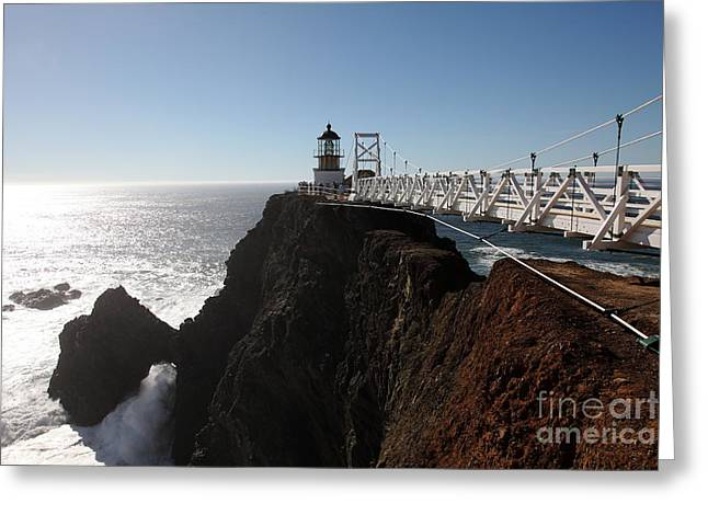 Bonita Point Greeting Cards - Point Bonita Lighthouse in The Marin Headlands - 5D19673 Greeting Card by Wingsdomain Art and Photography