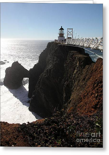Bonita Point Greeting Cards - Point Bonita Lighthouse in The Marin Headlands - 5D19675 Greeting Card by Wingsdomain Art and Photography