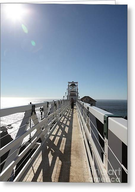 Bonita Point Greeting Cards - Point Bonita Lighthouse in The Marin Headlands - 5D19677 Greeting Card by Wingsdomain Art and Photography