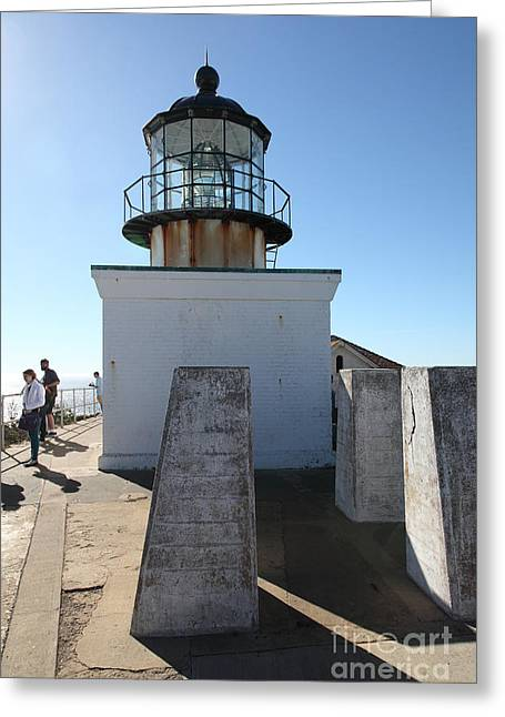 Bonita Point Greeting Cards - Point Bonita Lighthouse in The Marin Headlands - 5D19689 Greeting Card by Wingsdomain Art and Photography